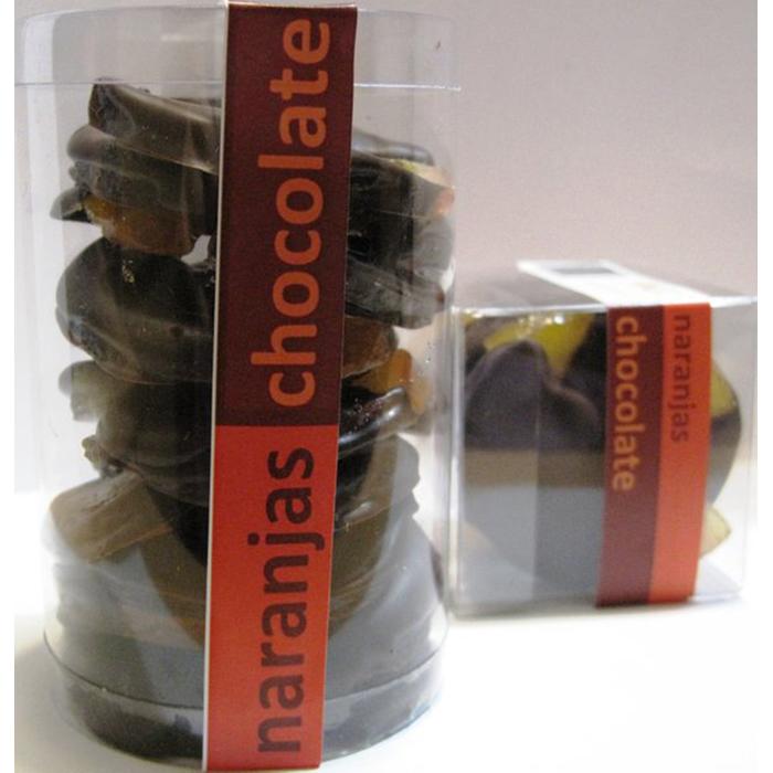 Tubo de Rodajas de Naranja confitada con Chocolate